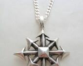 Silver Pendant Cross of Chaos