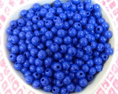 300x 6mm Tiny Dark Blue Coloured Resin Multi color Globe beads