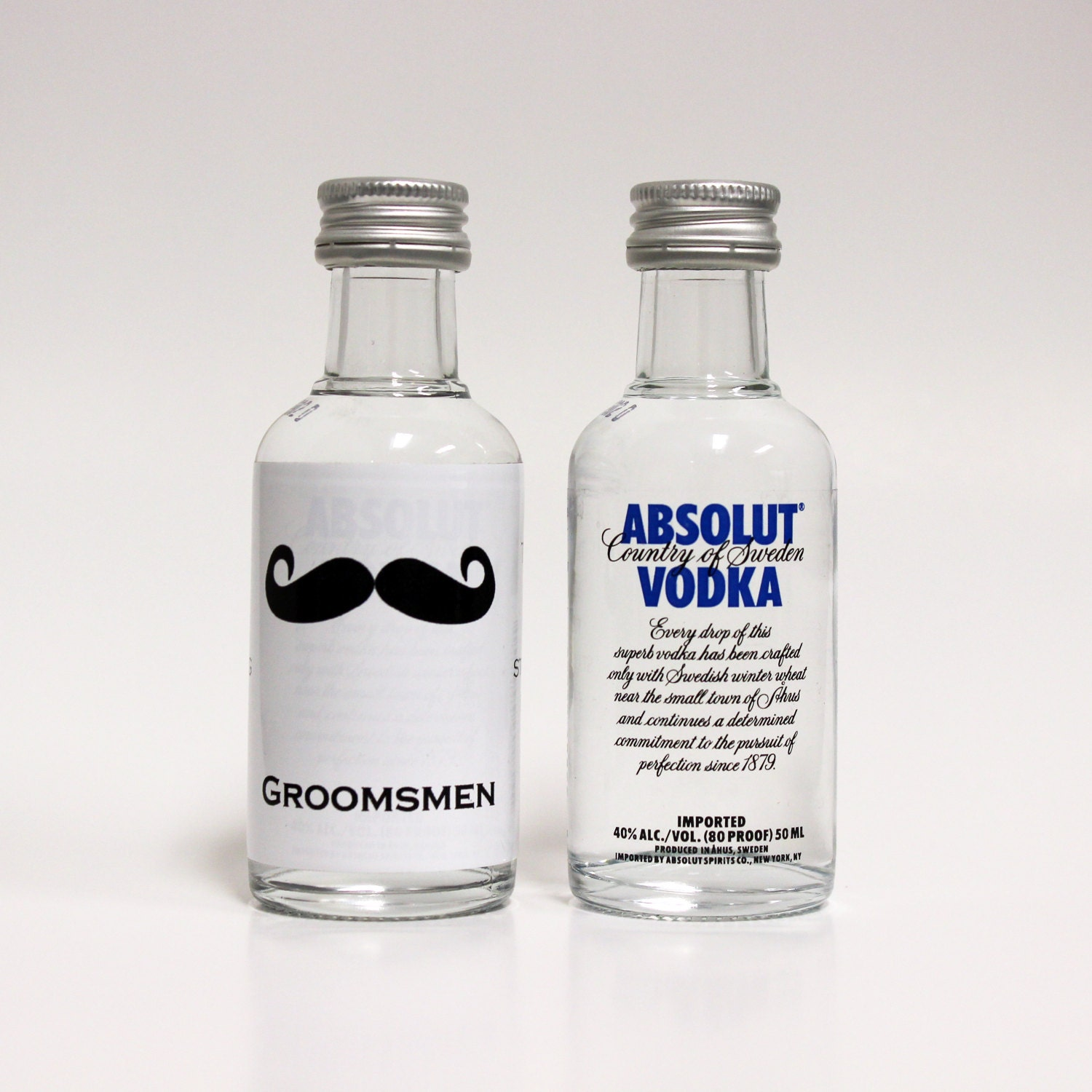 Custom Absolut Vodka Mini Bottle Labels by LiquidCourage ...