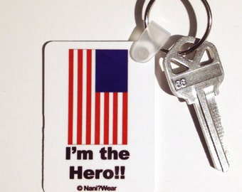 Hetalia American Rectangle Keychain: I'm the Hero