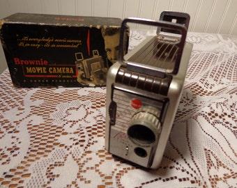 Vintage Kodak Brownie Movie Camera  -  13-970