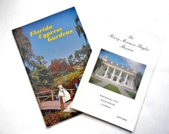 Cypress Gardens and The Henry Morrison Flagler Museum, Vintage Forida Souvenir Booklets, 1960s