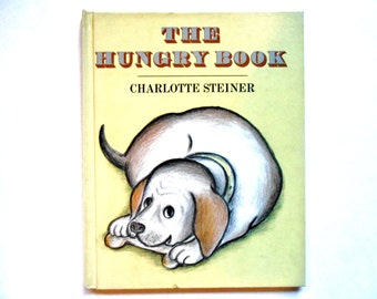 The Hungry Book, a Vintage Children's Picture Book by Charlotte Steiner