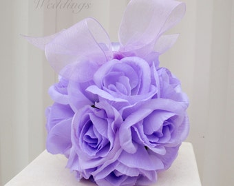Flower girl pomander - lavender kissing ball wedding flower ball - decoration