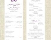 Printable, DIY Wedding Programs - Vintage Monogram