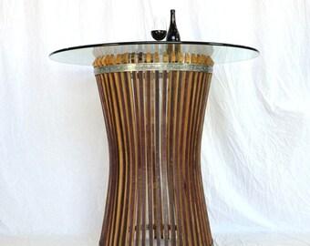 "CRAFTSMAN - ""Halesia"" - Wine Barrel Pub / Tasting Table -Concave-  100% recycled"