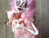 OOAK Art Doll - Polymer Clay - Gothic Art Doll