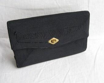 CORDE' Black Vintage Petite Clutch