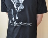 Peace Ridge Sanctuary T-shirt Jeremiah the Pit Bull design