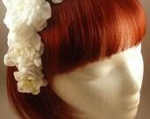 White Classic Lolita Rose Hair Corsage