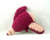 Crochet Raygun in Magenta and Pale Pink - Baby's First Raygun
