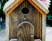 My Country Home, Birdhouse from the Rustic Collection, Tabletop, Upcycled Materials
