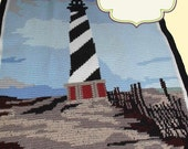 Crocheted Afghan Pattern - Original Design Cape Hatteras Lighthouse - PDF