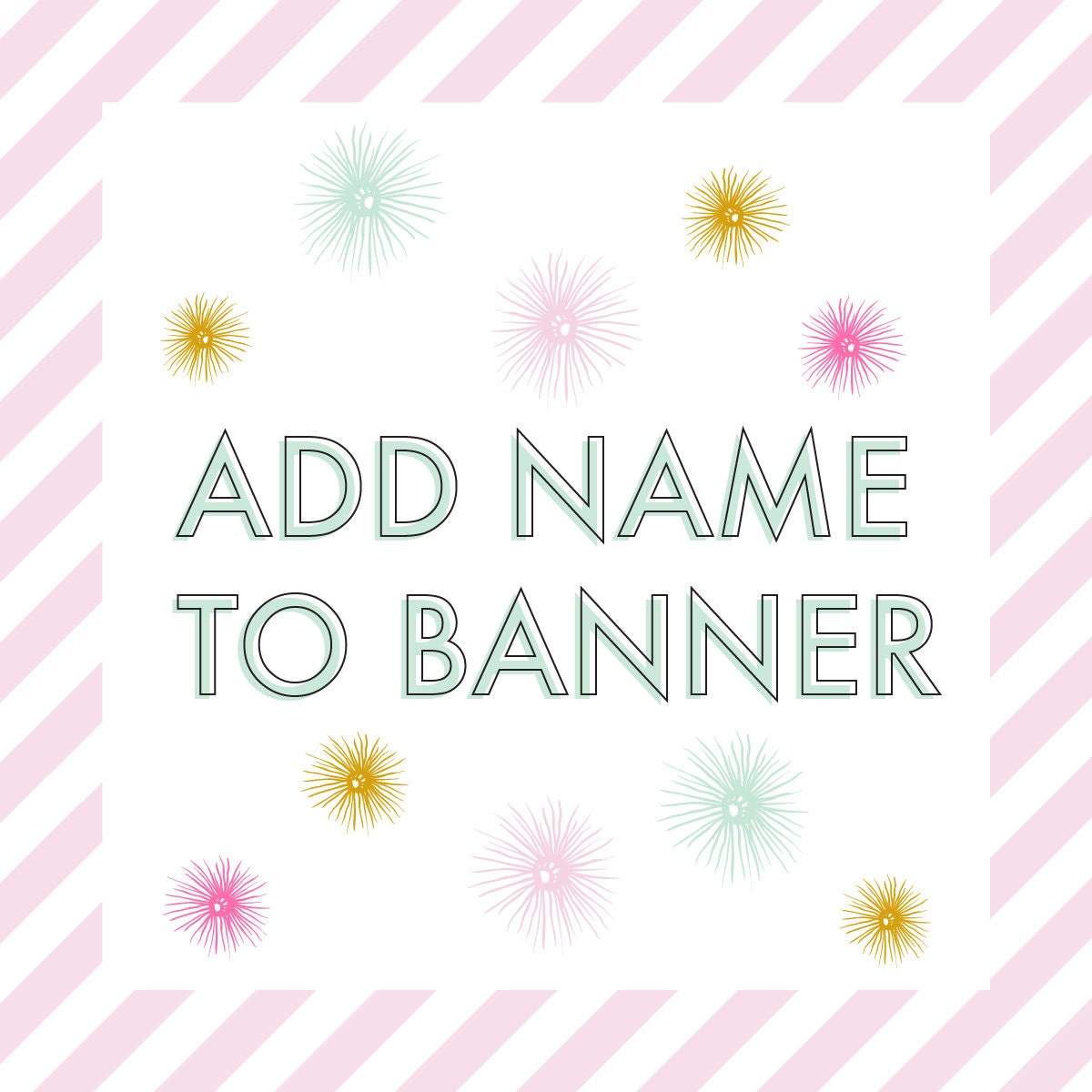 Personalized Happy Birthday Banner Add On Must Be Purchased
