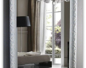 Antique Shabby Chic Leaning Mirror Modern Baroque