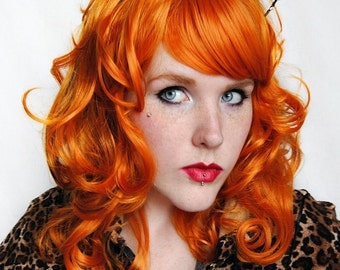 SALE Ginger wig | Red Auburn Hair | Curly Wavy Natural wig | Ginger orange wig | Wild Cat