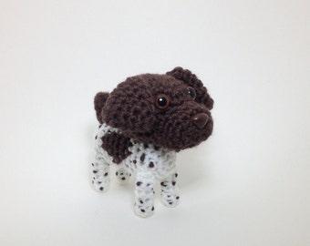 German Shorthaired Pointer Amigurumi stuffed dog crochet animal puppy plush doll / Made to Order