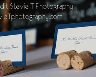 Wine Cork Place Card Holders for Wedding Reception Tabletop Holder