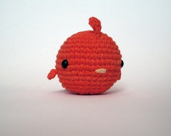 Red Fat Bird-Amigurumi Bird