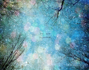 Stardust II - PHOTO, winter decor, night sky photo, celestial sky, surreal