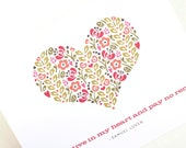 Romantic Greeting Card, Anniversary Card, Valentine // IN MY HEART