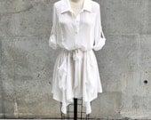 SALE! White Semblance Shirtdress