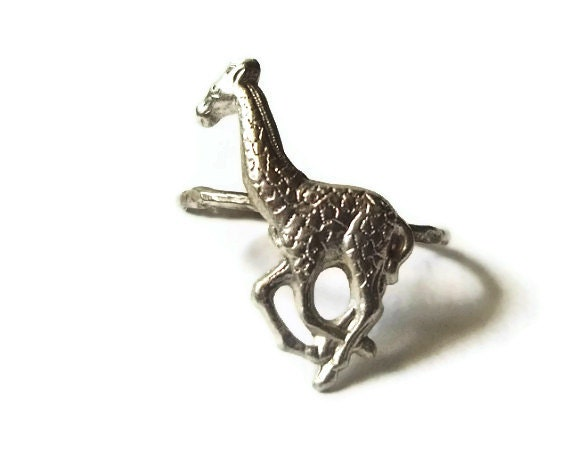 items similar to silver giraffe ring animal jewelry