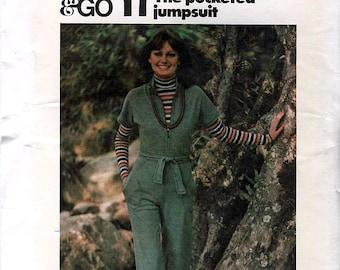 Butterick 4380 Vintage 70s Misses' Jumpsuit Sewing Pattern - Uncut - Size 12 - Bust 34