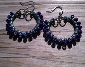 Wire and Bead Wrapped Retaining Clip Earrings - Upcycled Hardware Geek Jewelry