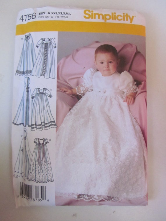 Simplicity 4766 Baby Christening Gown Sewing Pattern