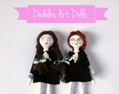 Art Dolls Julie and Cléo Paper Clay Dolls OOAK