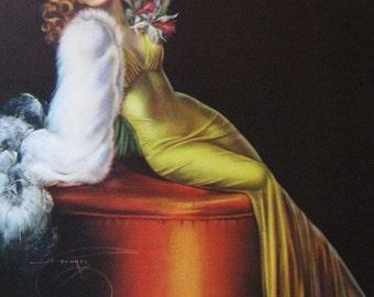 Billy DeVorss Lady in Yellow Calendar Art Print