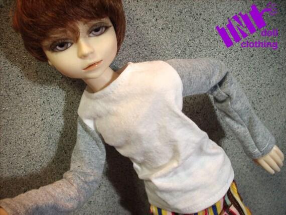 Grey and White 45cm BJD Shirt MSD