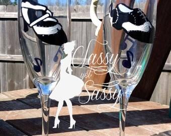 Ballroom Dancing Champagne Flutes