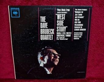 The DAVE BRUBECK Quartet-  Plays Music from Leonard Bernstein's West Side Story - 1962 Vintage Vinyl Record Album