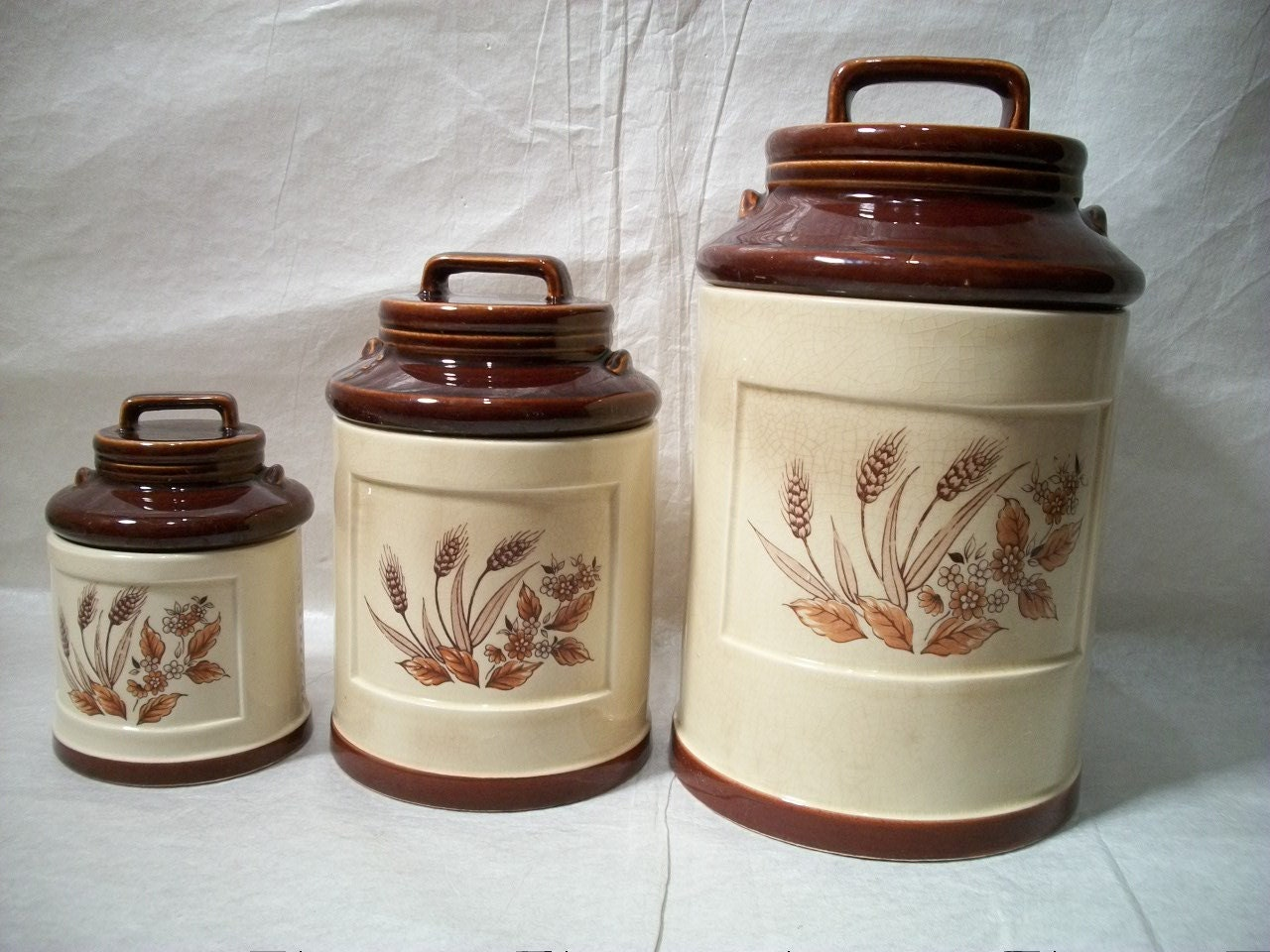 ceramic canisters sets for the kitchen vintage ceramic canisters set of 3 milk can shaped ceramic 6243