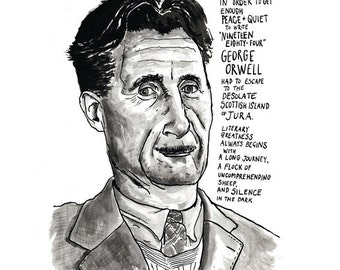 George Orwell Poster Print Great Writers Literary Poster