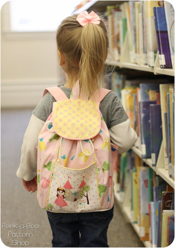 Lil' Adventurer Backpack Pattern: Kids Backpack Pattern, Toddler Backpack Pattern
