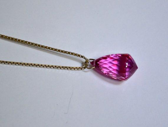 Valentine's Day Sale, Pink Topaz Briolette Pendant, Large Tear Drop Shape Pendant, Mistic Pink Pendant, Clearance Sale, Item No. De003