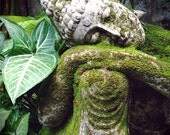 Yoga Art, Meditation Altar, 11x14 Spiritual Photography, Bali Garden, Buddha Art, Garden Sculpture Art, Yoga Studio Decor, Yoga Artwork