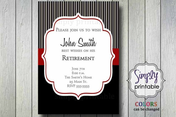 Retirement Invitation (Printable)
