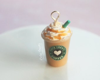 Starbucks Caramel Frappuccino Inspired Necklace