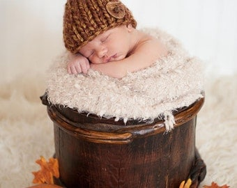 Chunky Knitted Little Mister Beanie Hat Newborn - Adult Great Photo Prop