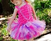 Pink Purple Sewn Tutu Couture Fluffy Tutu Pink Purple Birthday Tutu