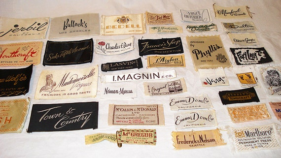 lot 38 plus vintage clothing labels 1940 s to 1970 s