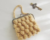 Crochet purse puff clutch pattern PDF - recipe for any purse frame size - Instant Download