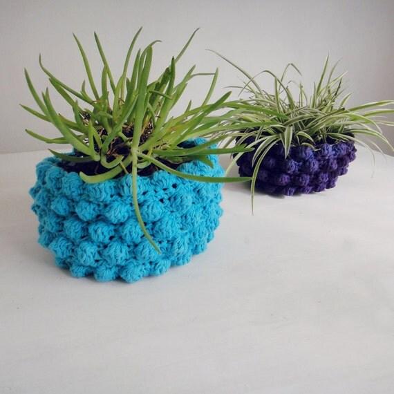 Easter Pot Holders Crochet: PDF Crochet Pattern Plant Holder Basket PHOTO Tutorial By