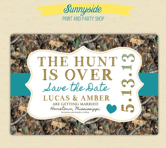 The Hunt Is Over Save The Date Postcard By Sunnysideprintparty