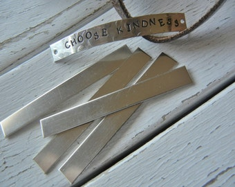"""Nickel Silver Blank - 1/4"""" x 2"""" Metal Blank for Hand Stamped Jewelry- Use on Leather Cuffs or BAR Necklace - Bracelets - 22gauge - 12 Pack"""