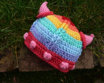 Rainbow Viking Hat - child sizes